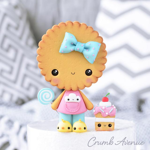 Cute Cookie Cake Topper