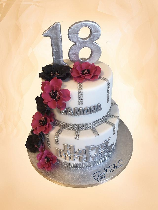 Remarkable 18Th Birthday Cake Cake By Felis Toporascu Cakesdecor Birthday Cards Printable Nowaargucafe Filternl