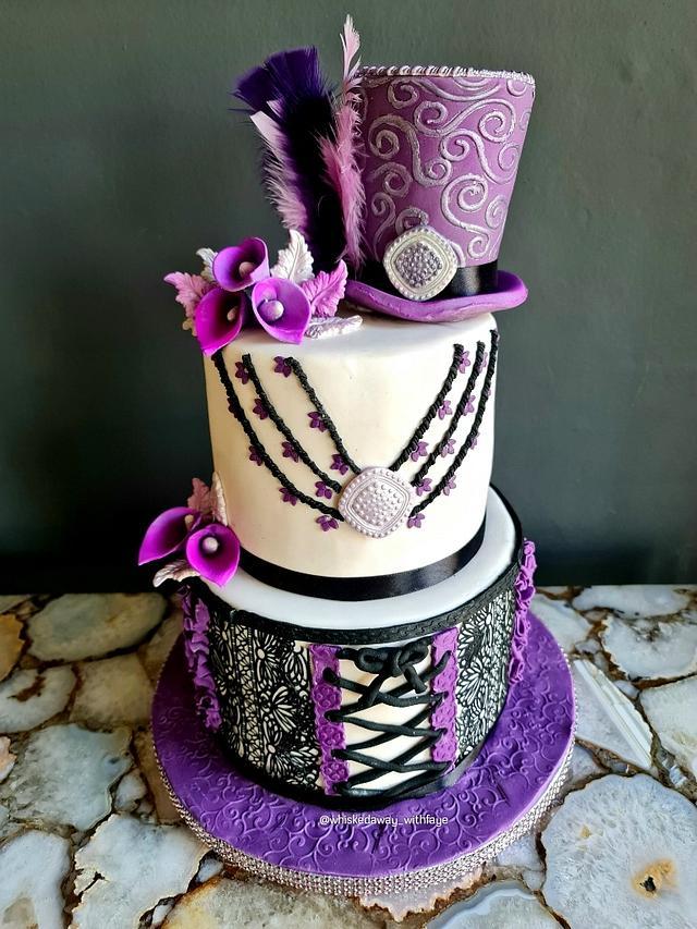 Funky Purple Hat cake!