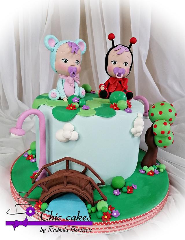 Cry babies doll cake