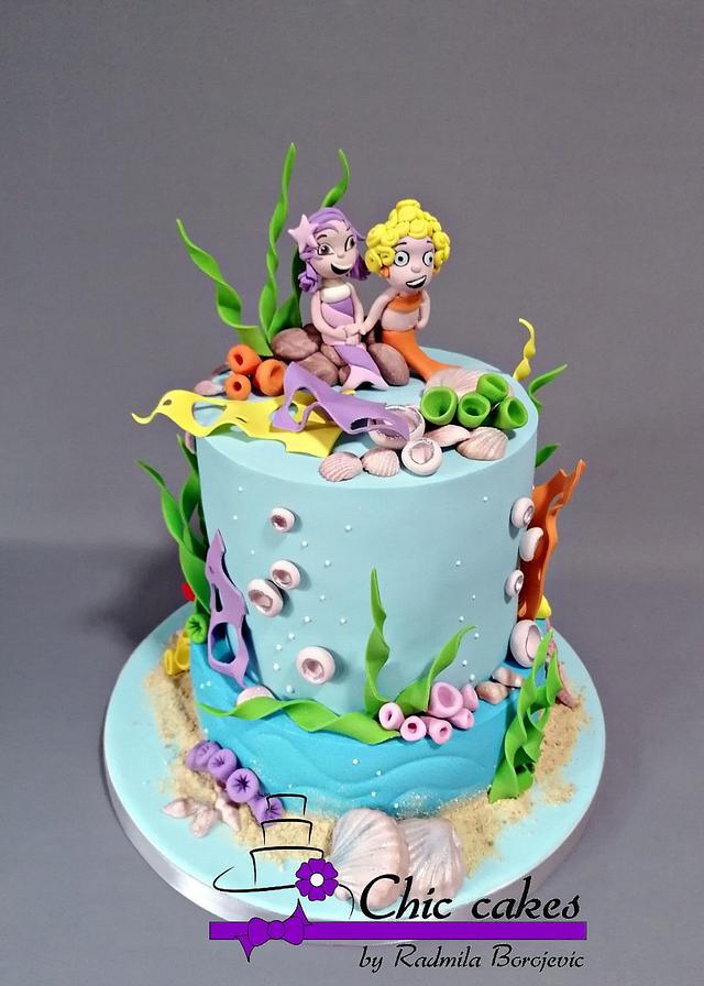 Bubble guppies cake