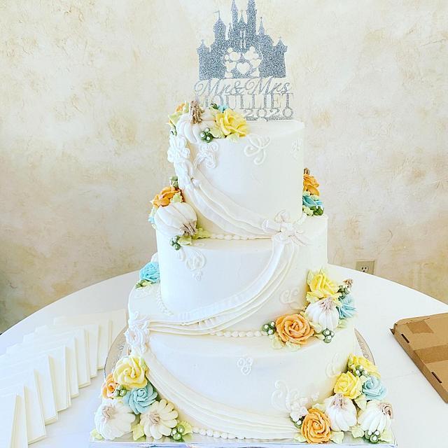 Enchanted Pumpkin Wedding Cake
