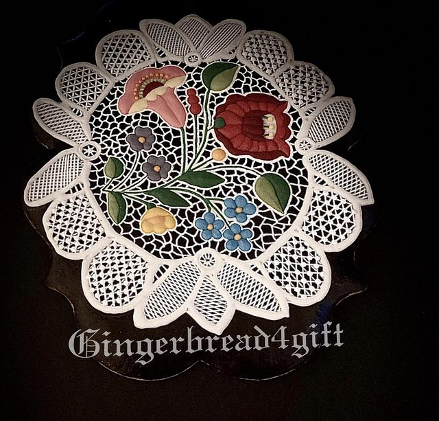 Hungarian motive embroidery