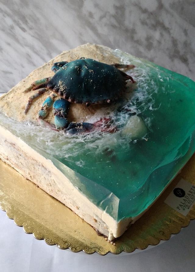 Crab in the ocean