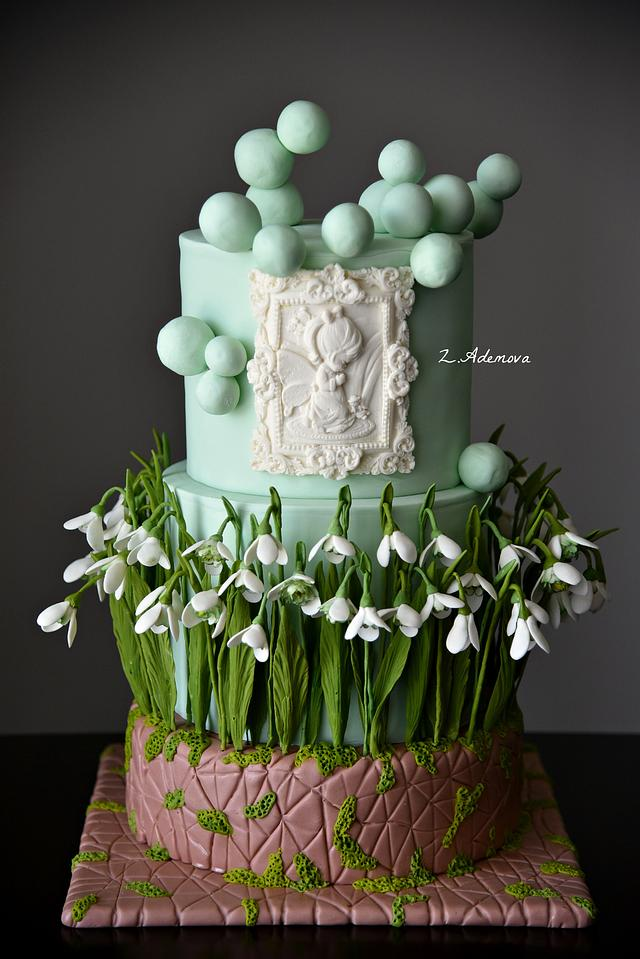 Spring Snowdrops cake...