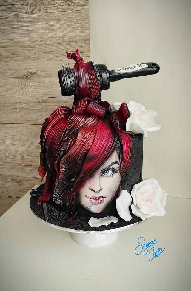 Hairdressing cake
