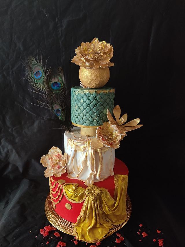 Dancer dress cake:Srilanka Collaboration