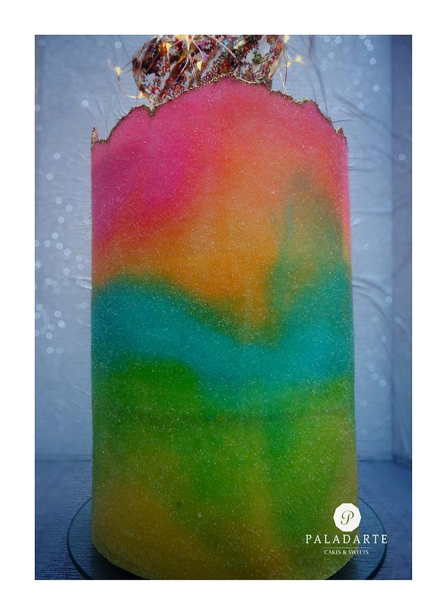 Rainbow Sugared Sheet Technique