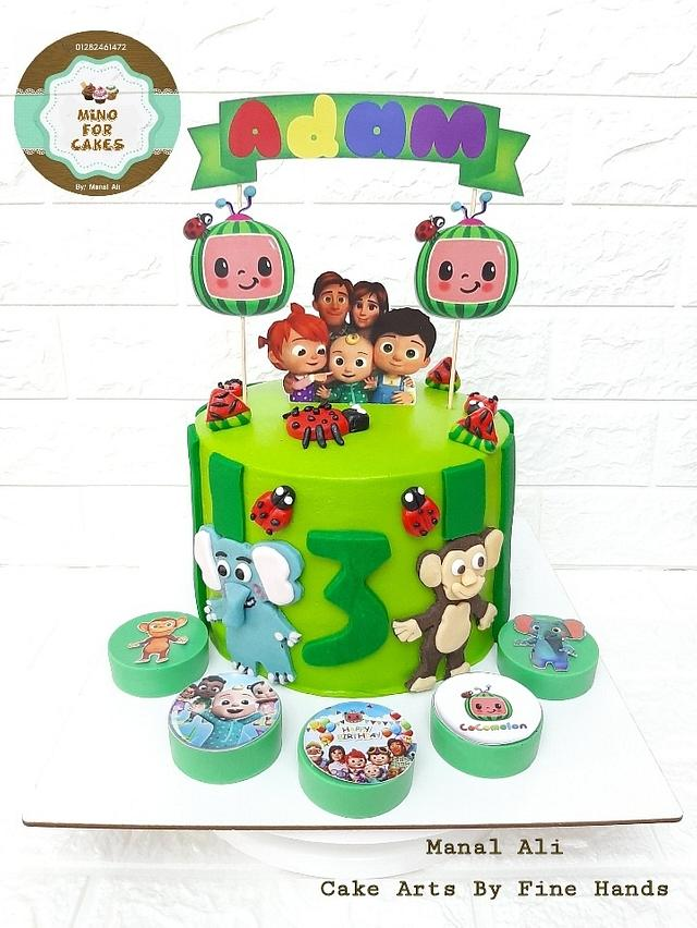 Cocomelon Fondant Cake Theme