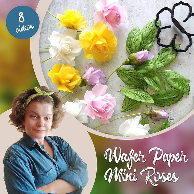Wafer paper mini Roses - Course by Petya Shmarova