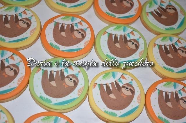 Sloth cookies