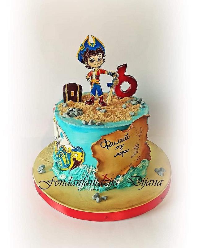 Santiago of the Seas themed cake