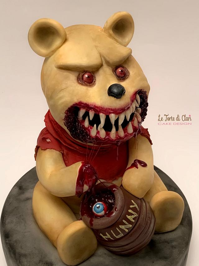 The dark side of Winnie the Pooh my piece for CREEPY WORLD CAKE COLLABORATION by Brenda Salcedo