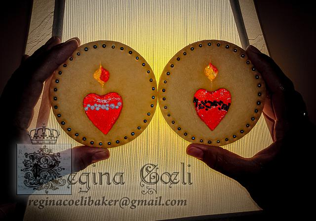 Hearts Stained Glass Cookies