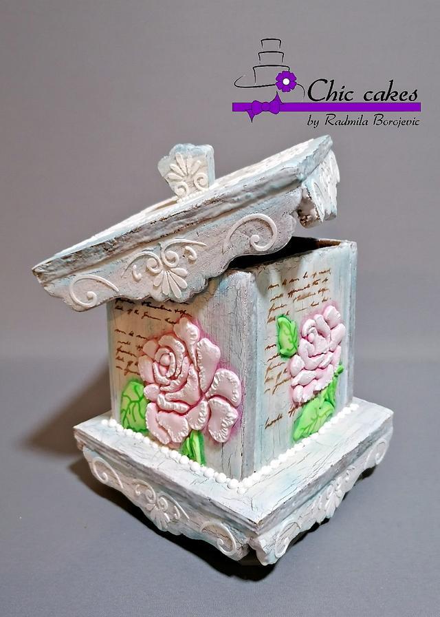 Vintage 3d cookie box