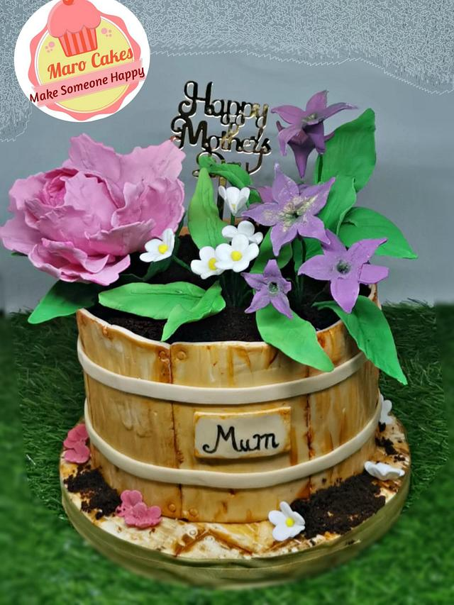 Mother day wooden flower gift