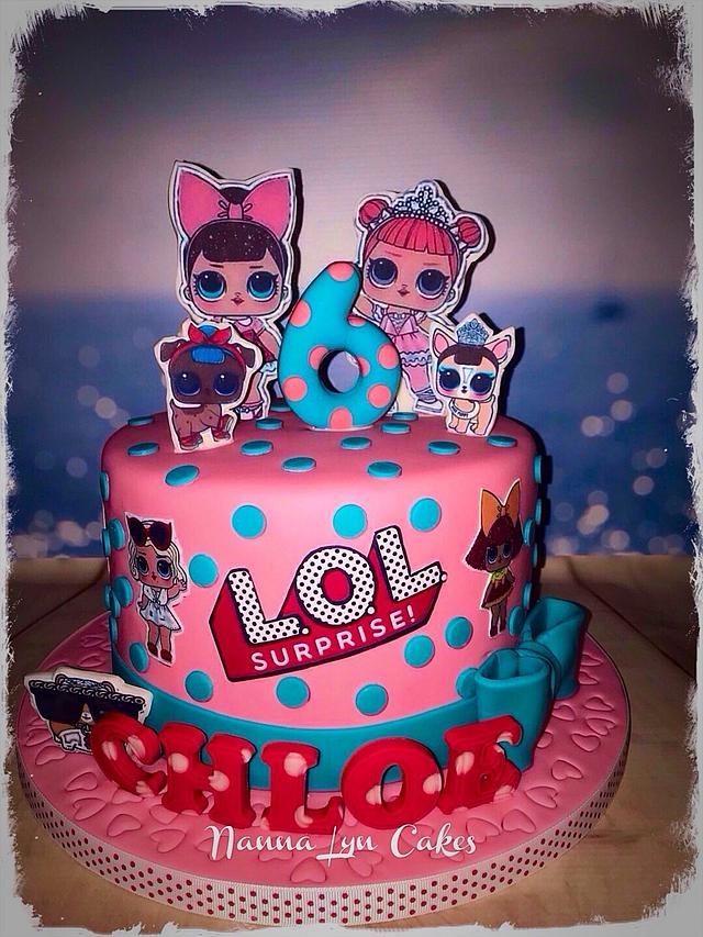 L.O.L. Birthday cake