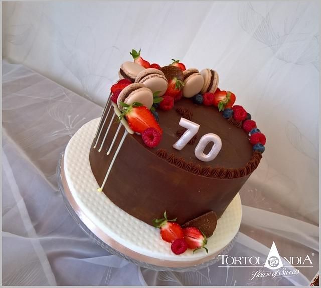 Chocolate cake for man