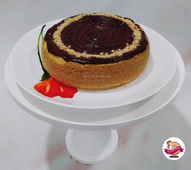 Baked cheese cake.