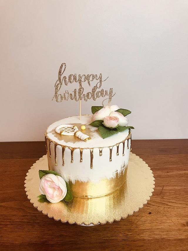 Elegant volleyball cake