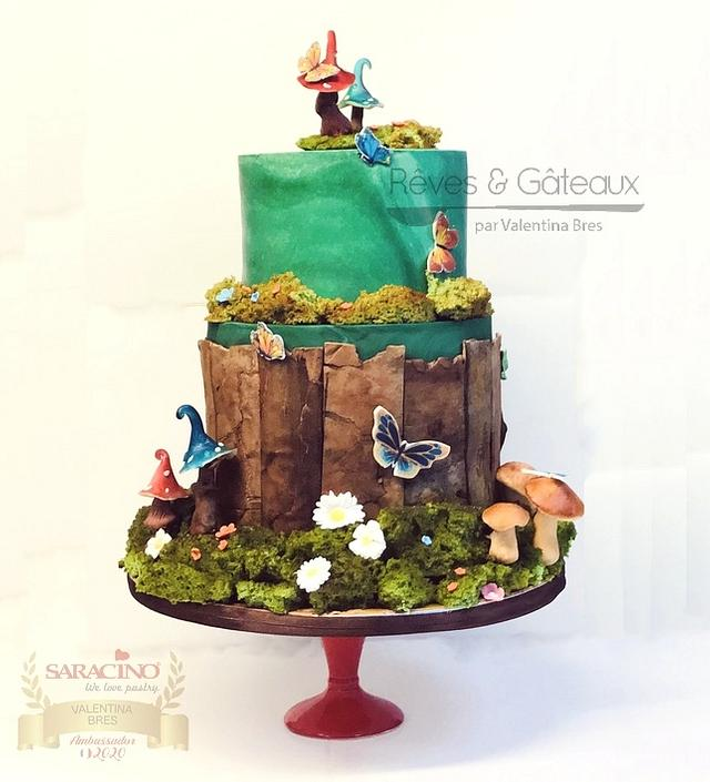 Undergrowth walk cake