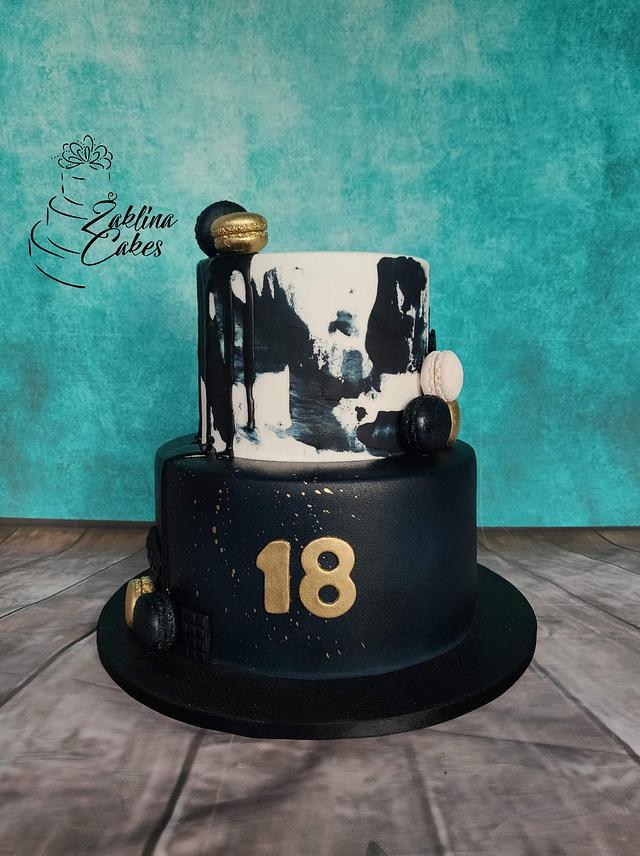Birthday trendy cake