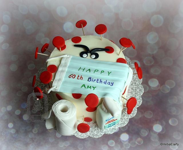 Amy's 60th corona virus birthday cake