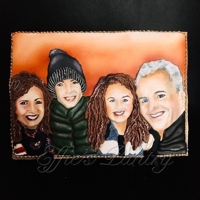 Family portrait cookie