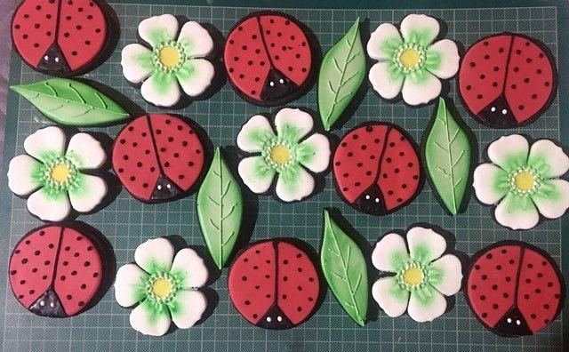 flowers and ladybugs for the first school day