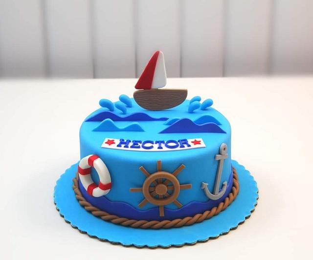 Admirable Nautical Theme Cake Cake By Shilpa Kerkar Cakesdecor Personalised Birthday Cards Sponlily Jamesorg