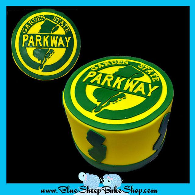 Garden state parkway cake