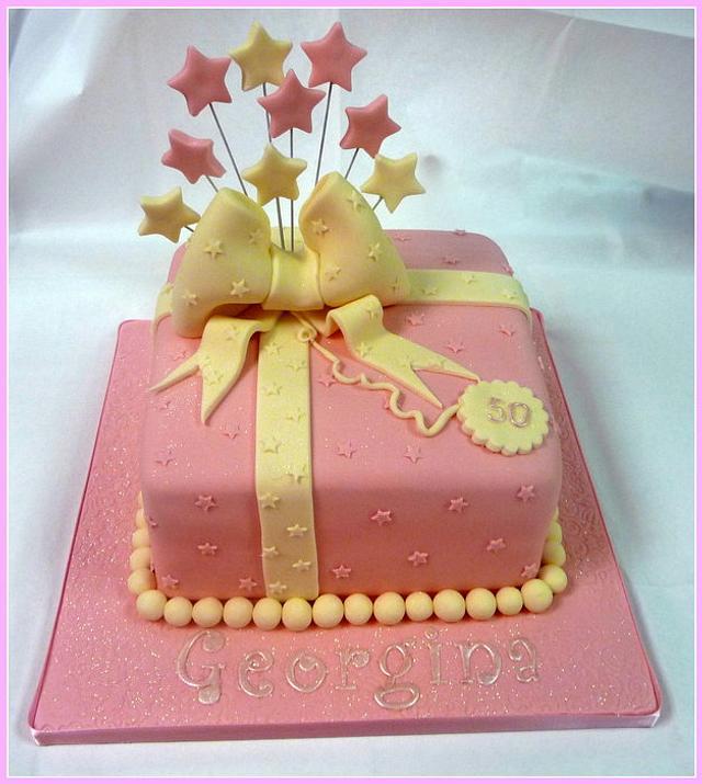 Ladies Present Pink & Cream Birthday Cake