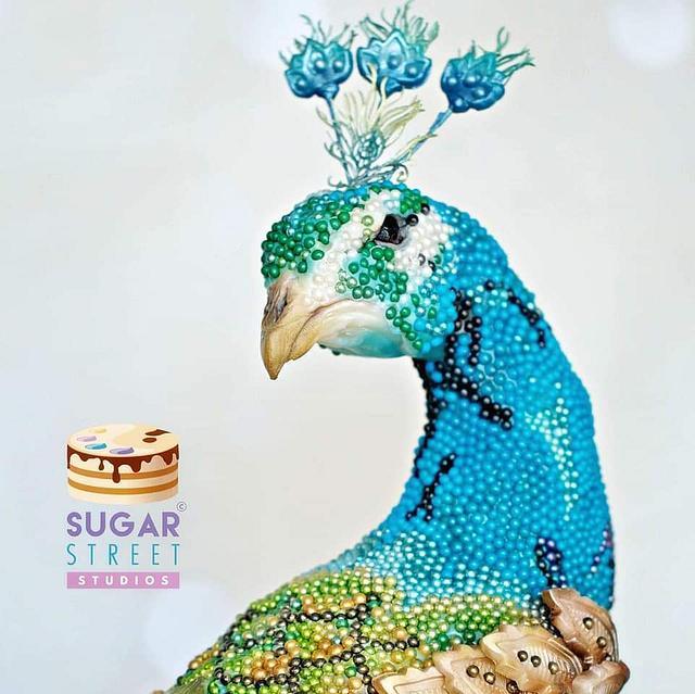 Beaded Peacock
