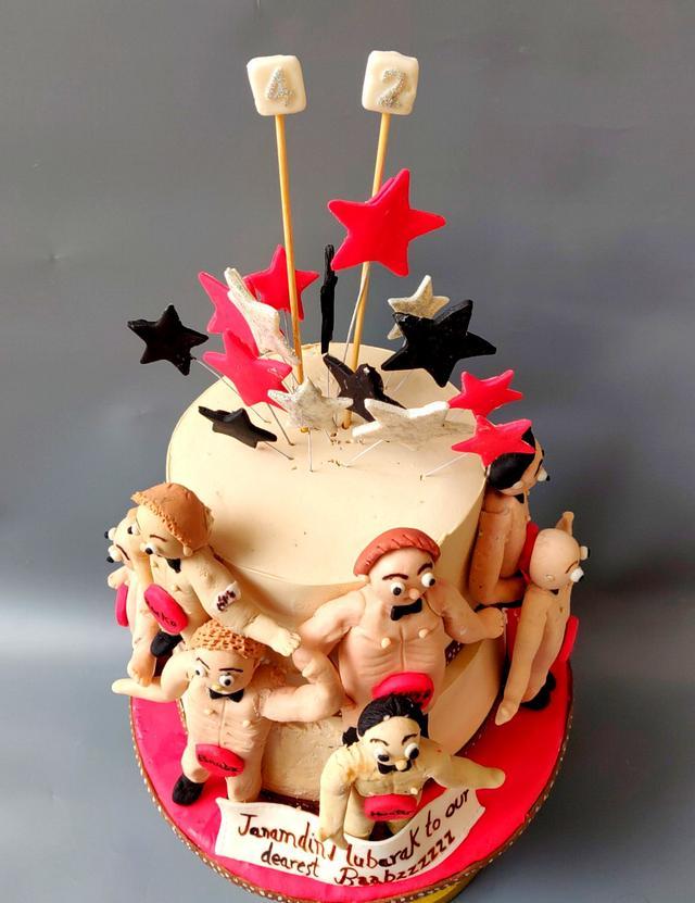 Stupendous Naughty Cake Cake By Babita Agarwal Cakesdecor Personalised Birthday Cards Veneteletsinfo