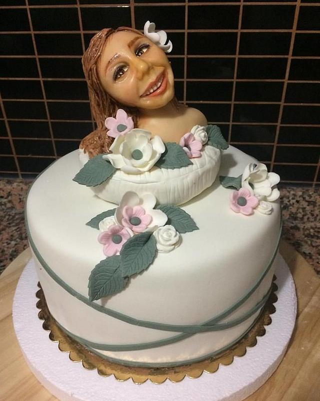 Human figure cake