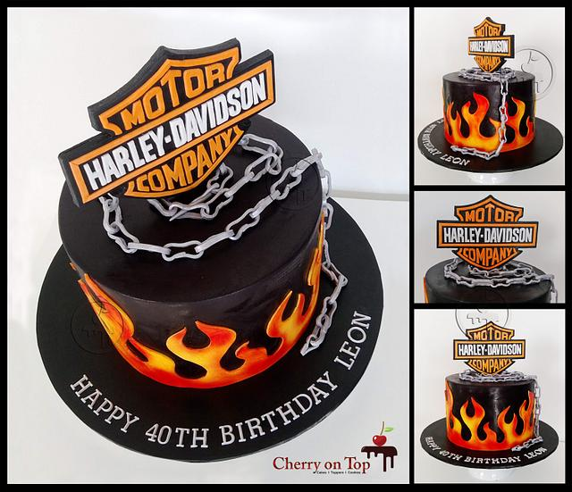 Awe Inspiring Harley Davidson Cake Cake By Cherry On Top Cakes And Cakesdecor Funny Birthday Cards Online Elaedamsfinfo