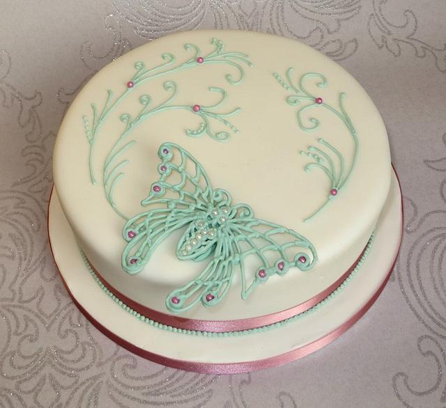 Art Nouveau Butterfly Cake
