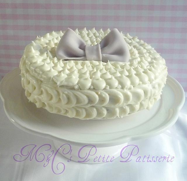 Simple butter cream cake