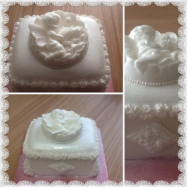 Snow Angel Cake Cake By Dinki Cupcakes Cakesdecor