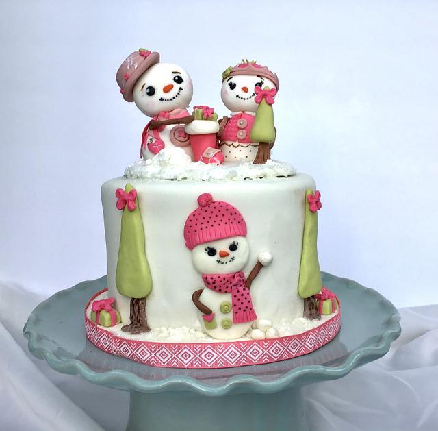 Snowmen cake