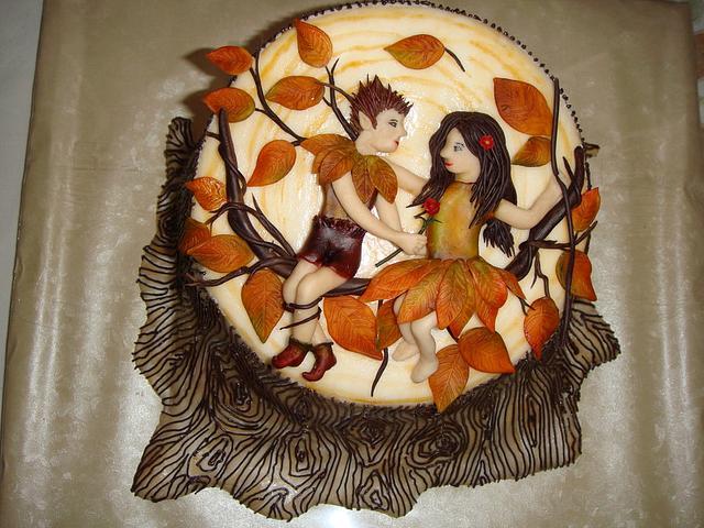 Fall and Romance cake