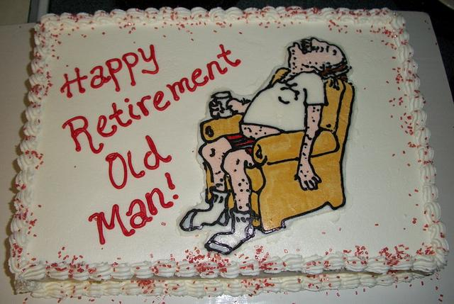 My Dad's retirement cake