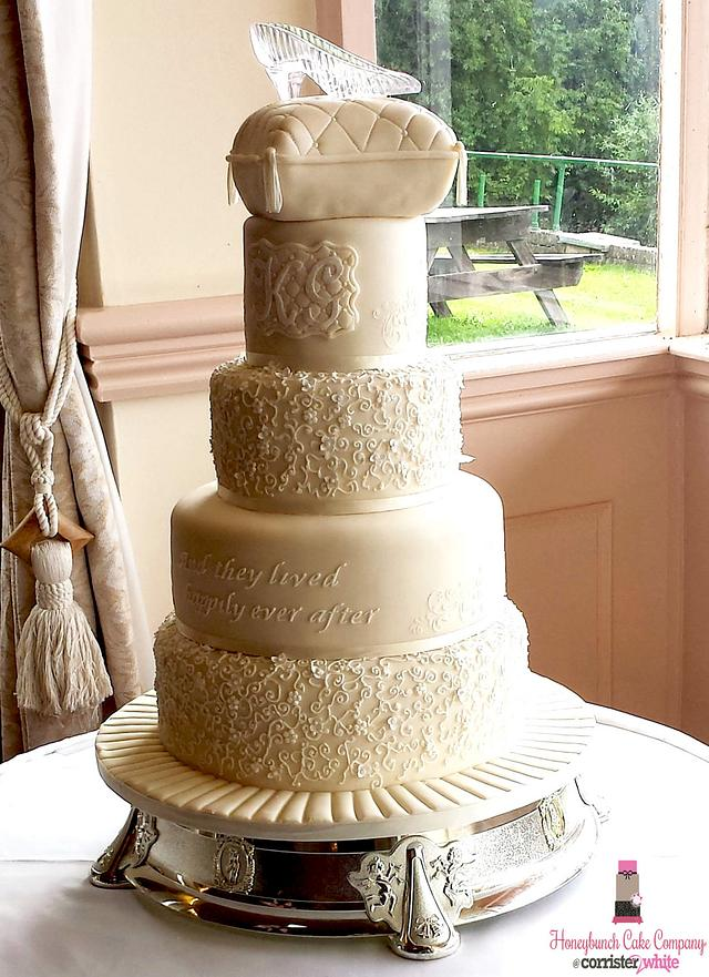 Cinderella Wedding Cake - Honeybunch Cake Company