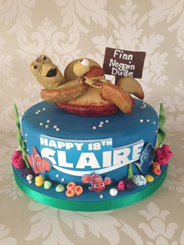 'Crush & Squirt' Finding Nemo 18th Birthday cake