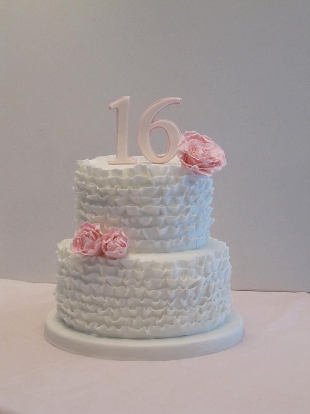 Fantastic Sweet 16 Birthday Cake Cake By Sunrise Cakes Cakesdecor Personalised Birthday Cards Sponlily Jamesorg