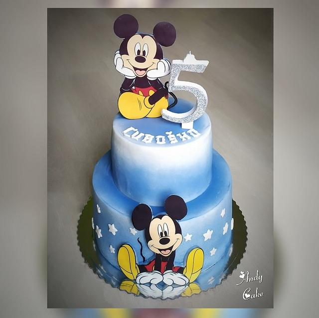 Tremendous Mickey Mouse Birthday Cake Cake By Andycake Cakesdecor Funny Birthday Cards Online Fluifree Goldxyz