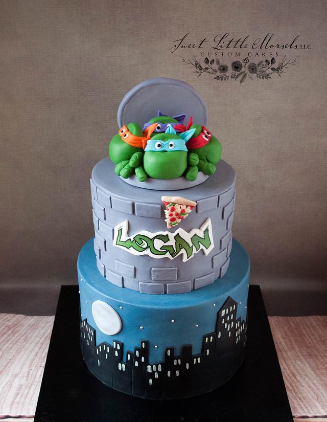 Terrific Ninja Turtle Birthday Cake Cake By Stephanie Cakesdecor Funny Birthday Cards Online Alyptdamsfinfo