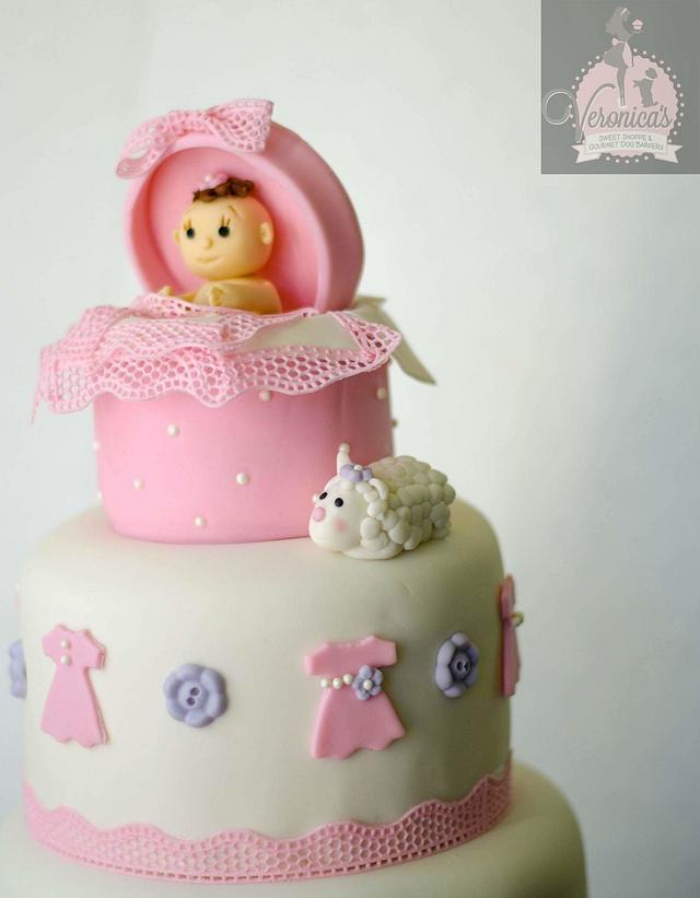 Dresses & Lace Baby Shower Cake