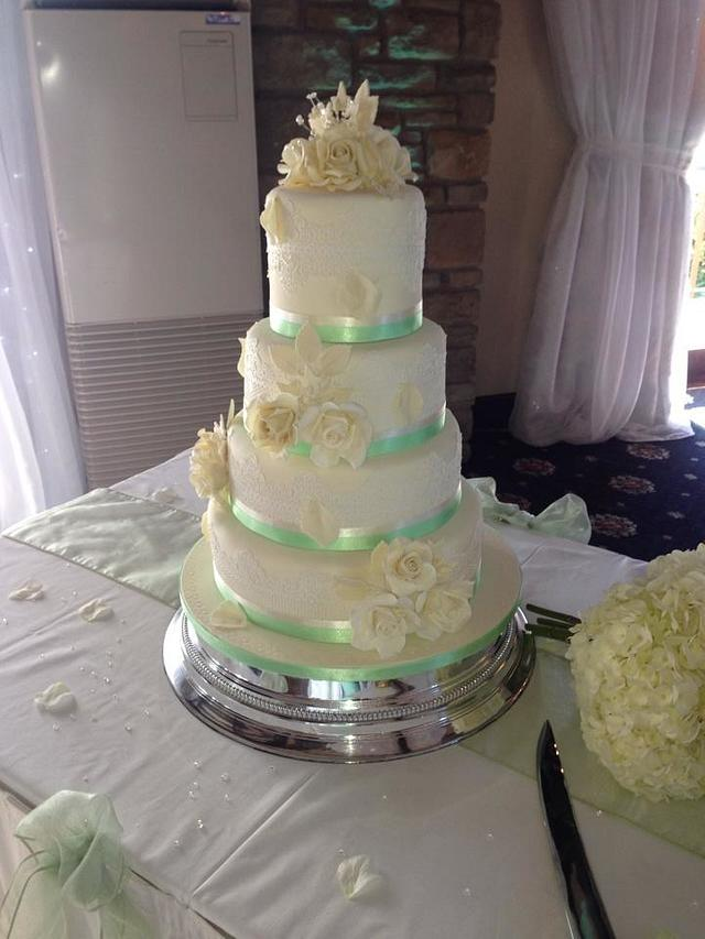 Our very first wedding cake