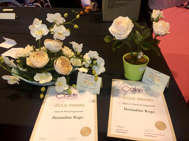 Twin Gold Awards at Cake International 2016-NEC- Birmingham